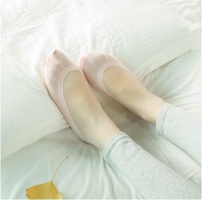 13n 日系袜子冰丝船袜 夏季硅胶防滑隐形浅口女袜 无痕女士袜套单鞋袜(6双包)