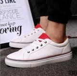 7 爆款休闲板鞋男 纯色透气运动休闲单鞋 防滑软底小白鞋潮