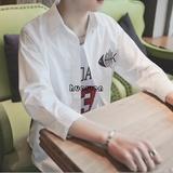 21c CC19春夏男式港风时尚七分袖潮牌衬衫